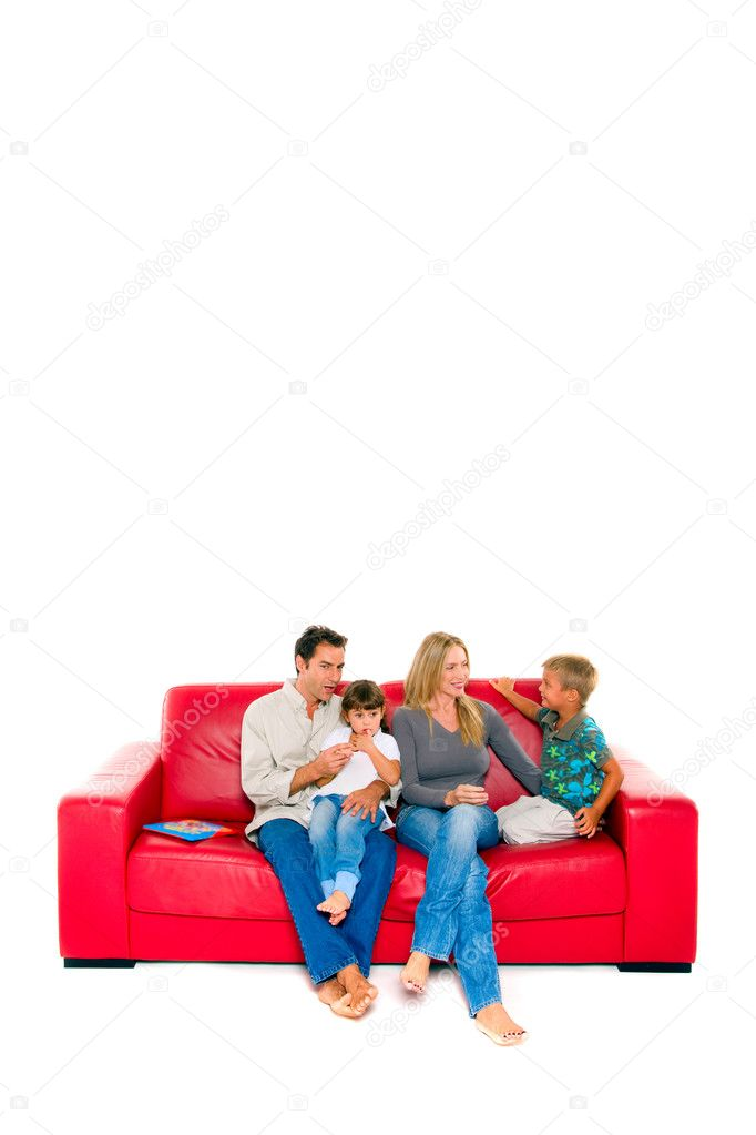 Family with two children  Stock Photo #7486214