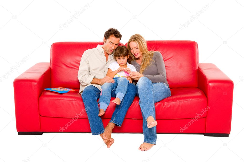 Family with one child — Stock Photo #7486282