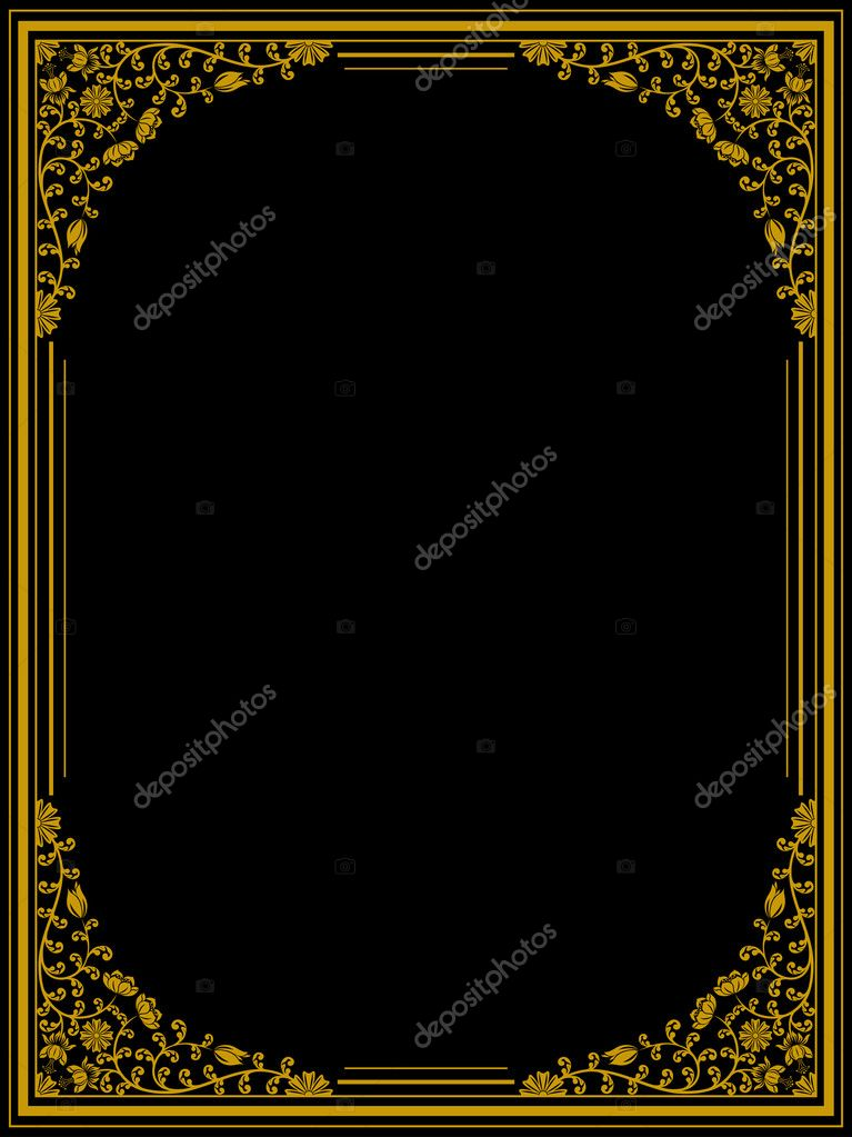 Vintage floral frame. Vector illustration. — Stock Vector #6816047