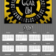 Gear up 2012 Annual Calendar Medium Image — Stock Photo