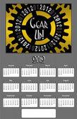 Gear up 2012 Annual Calendar Medium Image — Stock Photo