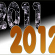 Stock Photo: 2011 End of Bad Start of Golden Year 2012