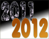 2011 End of the Bad Start of Golden Year 2012 — Stock Photo