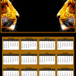 2012 Neon African Leopard Heads Calendar — Stock Photo #6782446