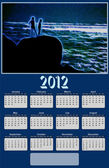 2012 Neon Sea View Calendar — Stockfoto