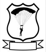 Parachuter Shield — Stock Vector