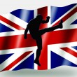 Country Flag Sport Icon Silhouette UK Rugby Up and Under — Foto de Stock