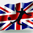 Country Flag Sport Icon Silhouette UK Soccer — Stock Photo