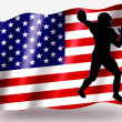 Country Flag Sport Icon Silhouette USA American Football — Stock Photo #7576666
