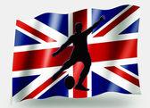 страны флага спортивный значок силуэт великобритании регби место удар — Стоковое фото