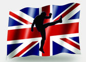 Country Flag Sport Icon Silhouette UK Rugby Up and Under — Stock Photo