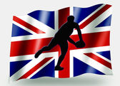 Land flagge sport symbol silhouette uk rugby pass — Stockfoto