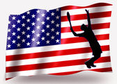 страны флага спорт значок силуэт сша теннис — Стоковое фото