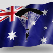 Country Flag Sport Icon Silhouette Australia Parachuting - Stock Photo