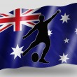Country Flag Sport Icon Silhouette Australia Rugby Kicker — Stock Photo