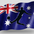 Country Flag Sport Icon Silhouette Australia Soccer — Stock Photo