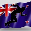 Country Flag Sport Icon Silhouette New Zealand Athletics — Stock Photo