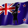 Country Flag Sport Icon Silhouette New Zealand Rugby Lineout — Stock Photo