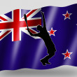 Country Flag Sport Icon Silhouette New Zealand Tennis — Stock Photo