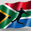 Country Flag Sport Icon Silhouette South Africa Soccer — Стоковая фотография