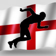 Country Flag Sport Icon Silhouette English Athletics — Stock Photo