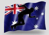 Country Flag Sport Icon Silhouette Australia Athletics — Stock Photo