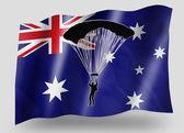 Country Flag Sport Icon Silhouette Australia Parachuting — Stock Photo