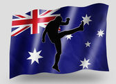 Country Flag Sport Icon Silhouette Australia Rugby High Kicker — Stock Photo