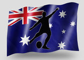 Country Flag Sport Icon Silhouette Australia Rugby Kicker — Stock Photo
