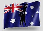 Bandera de país del deporte lineout icono silueta australia rugby — Foto de Stock