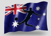 ülke bayrağı simgesi siluet avustralya futbol spor — Stok fotoğraf