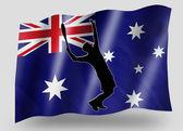 Vlajka země sportovní ikona silueta austrálie tenis — Stock fotografie
