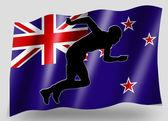 Markierungsfahne sport symbol silhouette neuseeland leichtathletik — Stockfoto