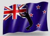 Flaga kraju sport ikony sylwetka nowej zelandii tenis — Zdjęcie stockowe