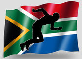 Country Flag Sport Icon Silhouette South Africa Athletics — Stock Photo