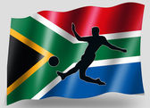 Country Flag Sport Icon Silhouette South Africa Soccer — Stock Photo