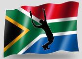 Markierungsfahne sport symbol silhouette südafrika tennis — Stockfoto