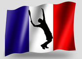 Country Flag Sport Icon Silhouette French Tennis — Stock Photo