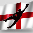 Country Flag Sport Icon Silhouette English Cricket Catch — Stock Photo