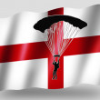 Country Flag Sport Icon Silhouette English Parachuting — Stock Photo