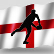 Country Flag Sport Icon Silhouette English Rugby Pass - Stock Photo