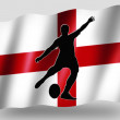 Country Flag Sport Icon Silhouette English Rugby Place Kick — Stock Photo