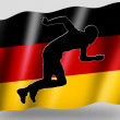 Country Flag Sport Icon Silhouette German Athletics - Stock Photo