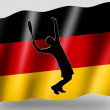Country Flag Sport Icon Silhouette German Tennis — Stock Photo