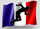 Country Flag Sport Icon Silhouette French Athletics — Stock Photo