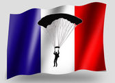 Country Flag Sport Icon Silhouette French Parachuting — Stock Photo