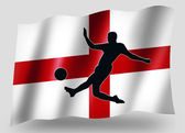 Country Flag Sport Icon Silhouette English Soccer — Stock Photo
