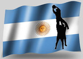 Country Flag Sport Icon Silhouette Argentine Rugby Lineout — Stock Photo
