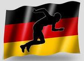 Bandiera del paese di sport atletica tedesca di sagoma icona — Foto Stock