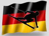 Country Flag Sport Icon Silhouette German Ski — Stock Photo